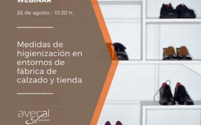 Avecal organiza un webinar sobre medidas de higienización en entornos de fabricación y comercialización en el calzado