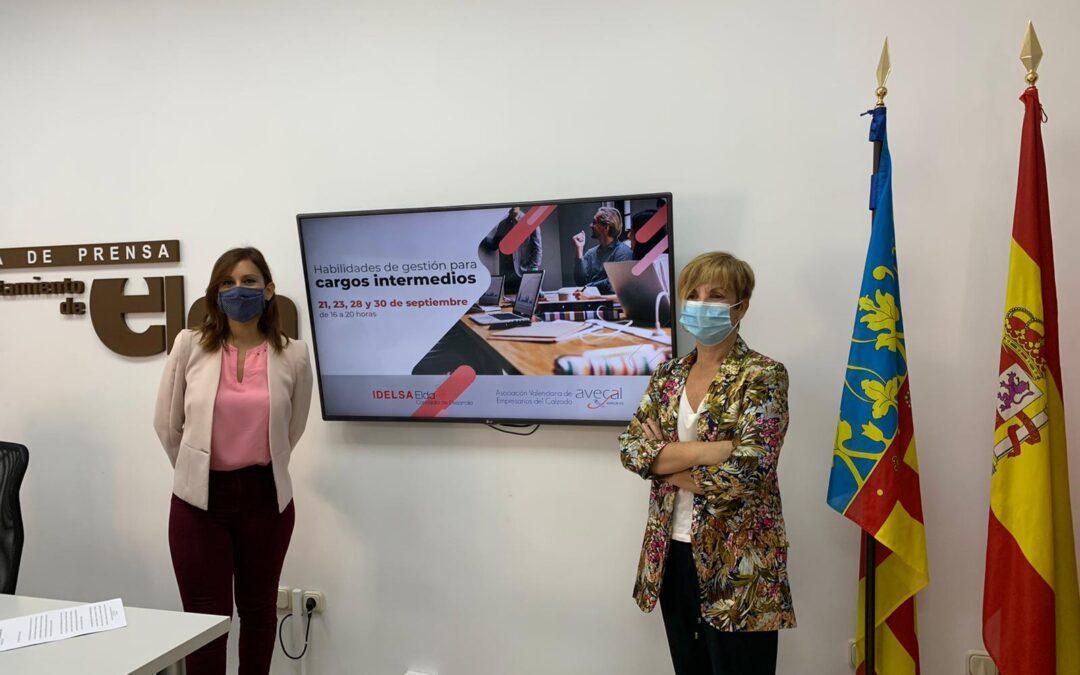 El Ayuntamiento de Elda y Avecal ponen en marcha un curso de formación para cargos intermedios de la industria del calzado